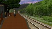 【MMD-JNR】山間の通学列車