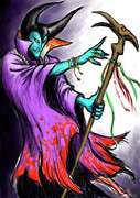 ドラクエの竜王をFFっぽく描いてみた