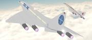 ロッキード超音速旅客機 L-2000【モデル更新】