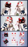 【MMD】猫面2種【アクセサリ配布】