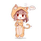 てれ顔猫パジャマきりたん