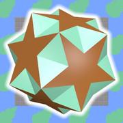 小二重三角二十・十二面体のミントチョコ