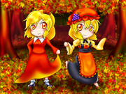 茜に染まる森の秋姉妹