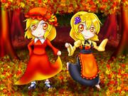 帽子の姉と髪飾りの妹な秋神様