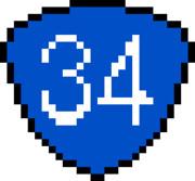 フリー素材】国道34号線