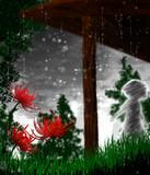 【白の雨宿り】