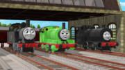 パーシーと別の鉄道の機関車たち