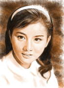 デジタル似顔絵「吉永小百合さん」