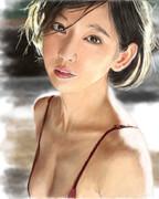 デジタル似顔絵「吉岡里帆さん」