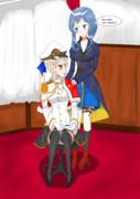 提督に上着を掛けてあげるGotlandさん【オリジナル提督】