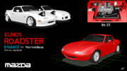 「MMDモデル配布」Eunos Roadster NA6CE Normal base 93s