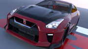 NISSAN GT-R R35 2017年モデル MMD配布予定