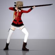 【MMD】國友筒を撃つ