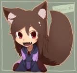 【でかしっぽ】影狼ちゃんキーホルダ