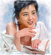 デジタル似顔絵、「沢口靖子さん」