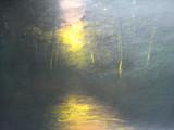 斜暉の水辺