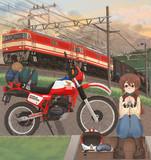 貨物列車と旅するバイク