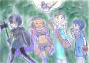 『GIRLS BE SWORD WORLD2.5』の4人(ラフ)