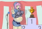 外界の大食い大会で優勝した幽々子姫