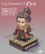 ほぼ毎日デフォルメ#500 SEKIRO