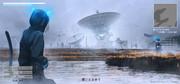 湿原の巨大アンテナ【ゲーム画面】