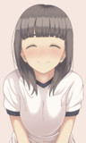 体操着少女の笑顔