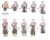 pixiv新旧デジ絵比較 '09〜'18