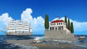 貴婦人と地中海