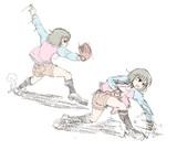 女の子らしい投球フォームの探求に余念のない昴ちゃん。