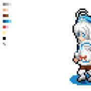 【GIF】つまづいてこけるシロちゃんドット絵