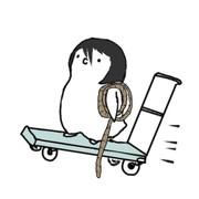 ペンギン化した平野店長