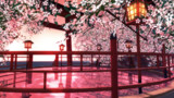 【MMD】桜舞台【ステージ改変.配布】
