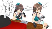 スーパーファミコンで遊ぶ2人の艦娘
