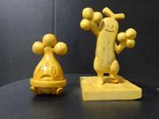 木彫りのウソハチ・ウソッキ―