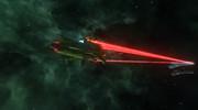 メルトリア級航宙巡洋戦艦 主砲斉射とお尻