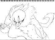 ナゲツケサル(線画)