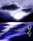 【明けの空と白】