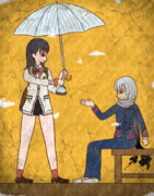 【壁画】雨と弁当