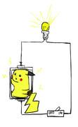 ピカチュウで電球に明かりをつける