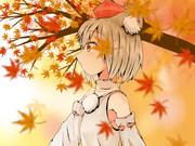 紅葉を歩むINU