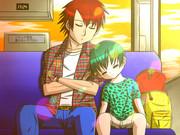 バスの中で眠る二人