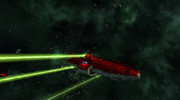 金剛型宇宙戦艦5番艦『キリシマ』36㎝三連装高圧増幅光線砲斉射