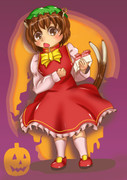 ハロウィンなのでお菓子を配るよ