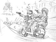 【アルフィー漫画一コマ劇場】怪盗アルフィー華麗に参上!そして退場!