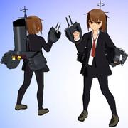 【MMDモデル配布】SSR式 艤装つき若葉改ver1.00