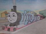 ウェルズワース駅にて(色鉛筆)