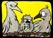 切り絵「文鳥」 オリキャラ アナログ