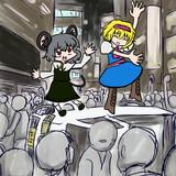 ハロウィンなので渋谷で軽トラぶっ倒して頭わるわる音頭を踊るNYNICG