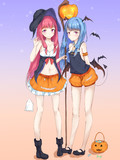 ハロウィンな琴葉姉妹