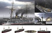 MMD用モブ前弩級戦艦1890(モブーヨ)セット